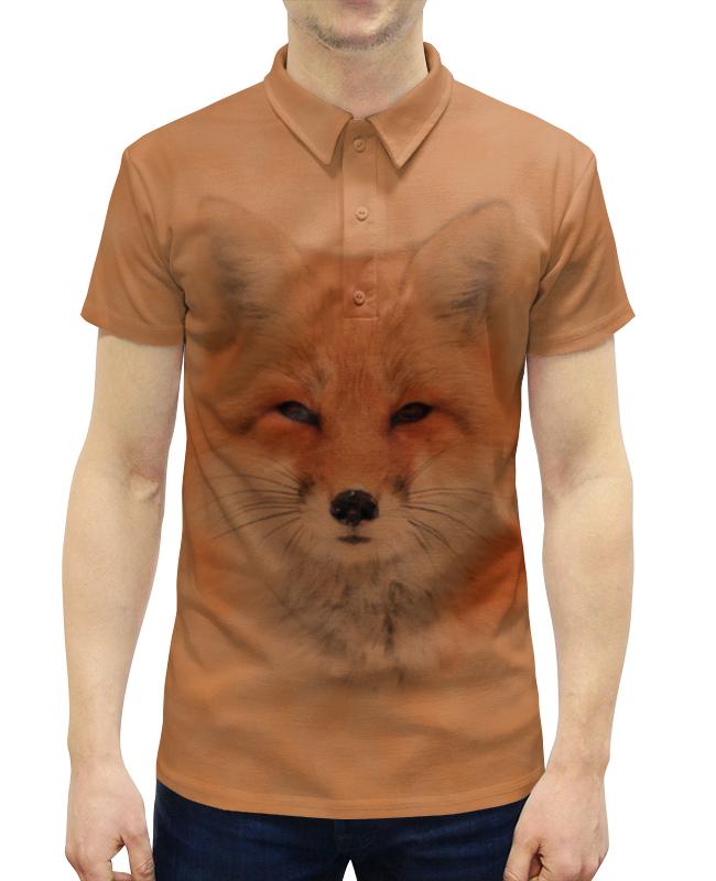 Рубашка Поло с полной запечаткой Printio Лисица garda decor тумба прикроватная зеркальная