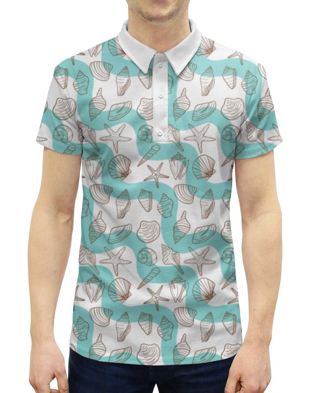 Рубашка Поло с полной запечаткой Printio Ракушки сумка с полной запечаткой printio ракушки