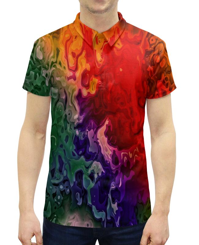 Рубашка Поло с полной запечаткой Printio Цветные краски поло print bar линии краски