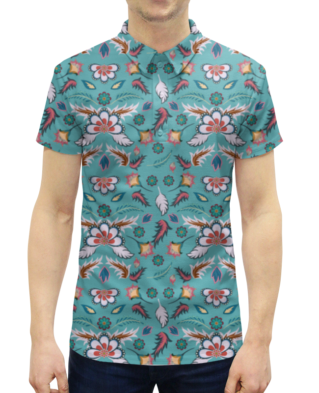 Рубашка Поло с полной запечаткой Printio Батик