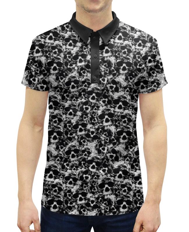 Рубашка Поло с полной запечаткой Printio Камуфляж черепа поло print bar весёлые черепа