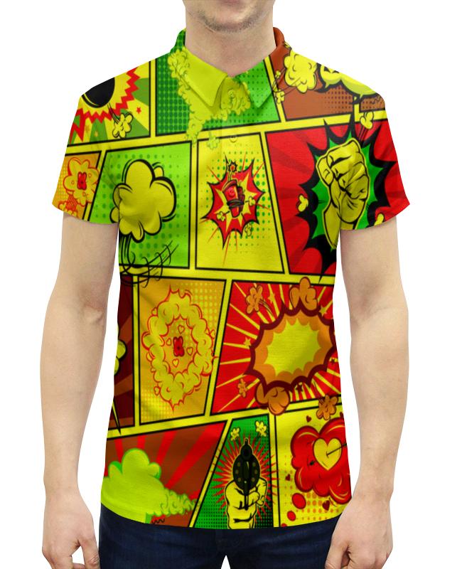 Рубашка Поло с полной запечаткой Printio Взрыв рубашка поло printio фк нефтехимик