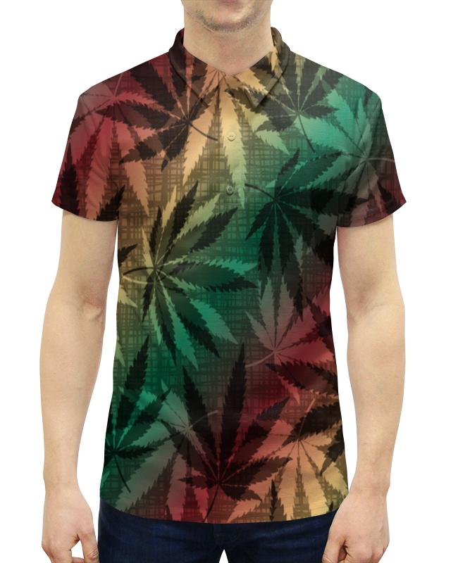 Рубашка Поло с полной запечаткой Printio Конопля кпб od 17