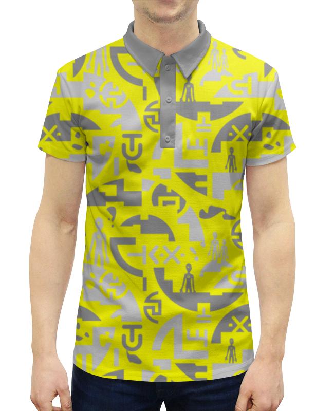 Рубашка Поло с полной запечаткой Printio Ufo style super soft frisbee ufo style silicone indoor outdoor toy for pet dog light green