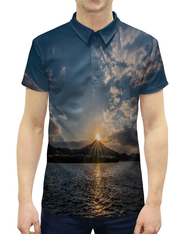 Рубашка Поло с полной запечаткой Printio Закат рубашка поло с полной запечаткой printio пламенный закат