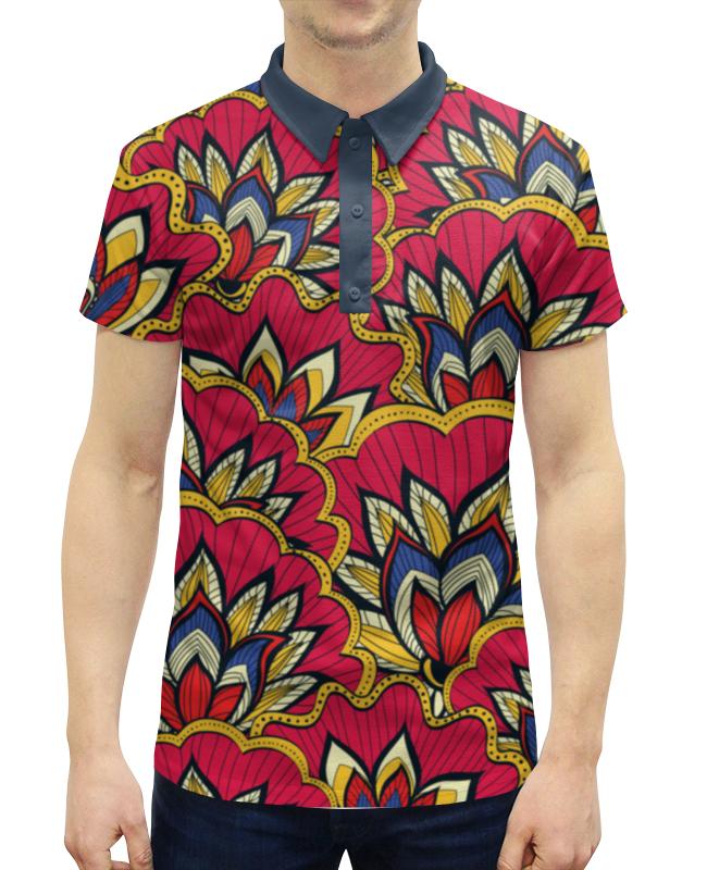 Рубашка Поло с полной запечаткой Printio Весенний узор рубашка поло с полной запечаткой printio весенний узор
