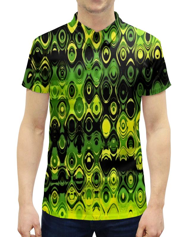 Рубашка Поло с полной запечаткой Printio Неоновый