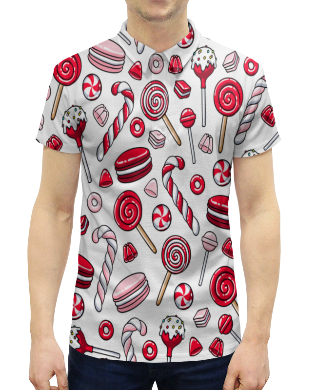 Рубашка Поло с полной запечаткой Printio Леденцы леггинсы printio леденцы
