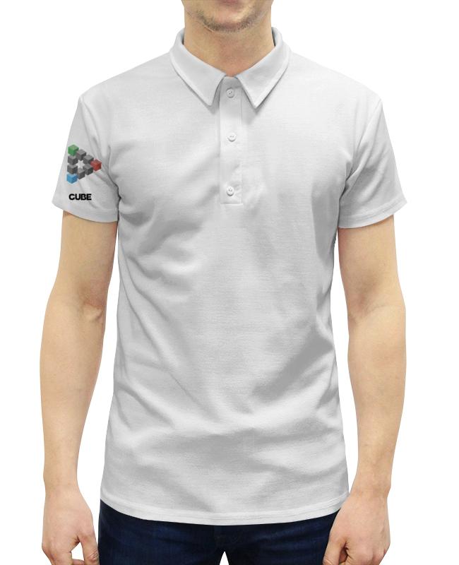 Рубашка Поло с полной запечаткой Printio Symbol cube цена