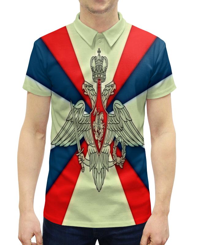 Рубашка Поло с полной запечаткой Printio Герб рф