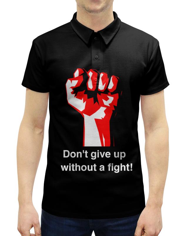 Рубашка Поло с полной запечаткой Printio Don't give up without a fight. бойцовский клуб
