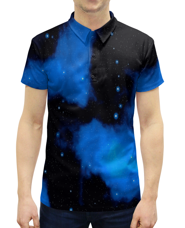 Рубашка Поло с полной запечаткой Printio Звездное небо