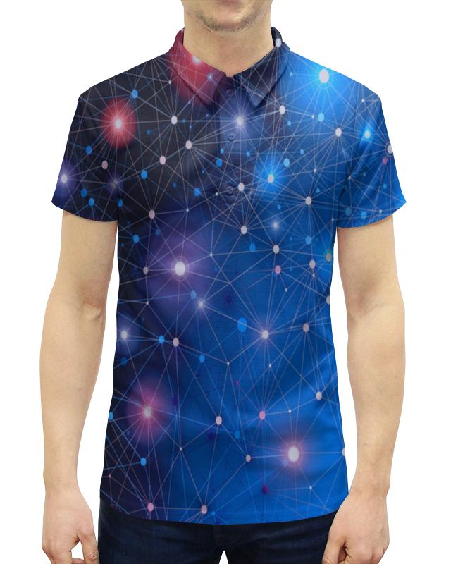 Рубашка Поло с полной запечаткой Printio Звезды