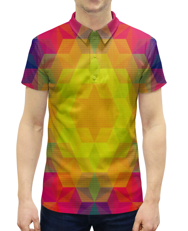 Рубашка Поло с полной запечаткой Printio Графический узор графический дизайн