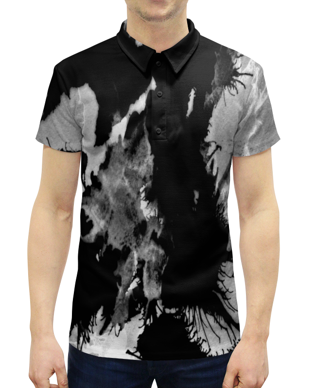 Рубашка Поло с полной запечаткой Printio Пятна