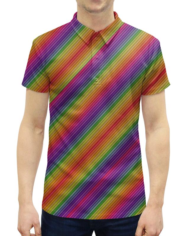 Рубашка Поло с полной запечаткой Printio Линии радуги рубашка поло с полной запечаткой printio линии