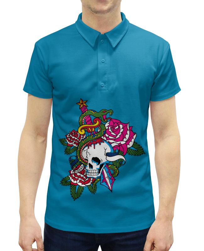 Рубашка Поло с полной запечаткой Printio Череп поло print bar черепа с бантиками