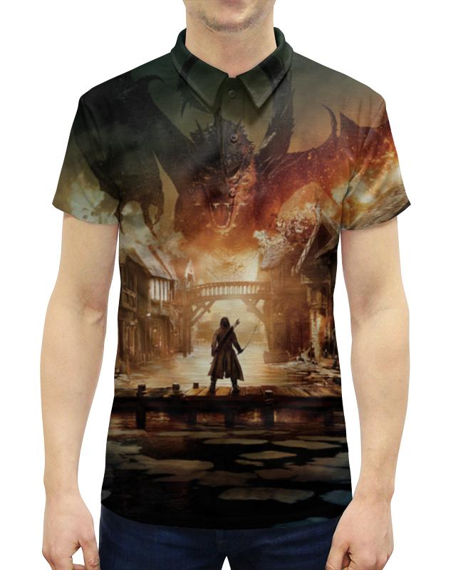 Рубашка Поло с полной запечаткой Printio Хоббит рубашка поло printio фк нефтехимик
