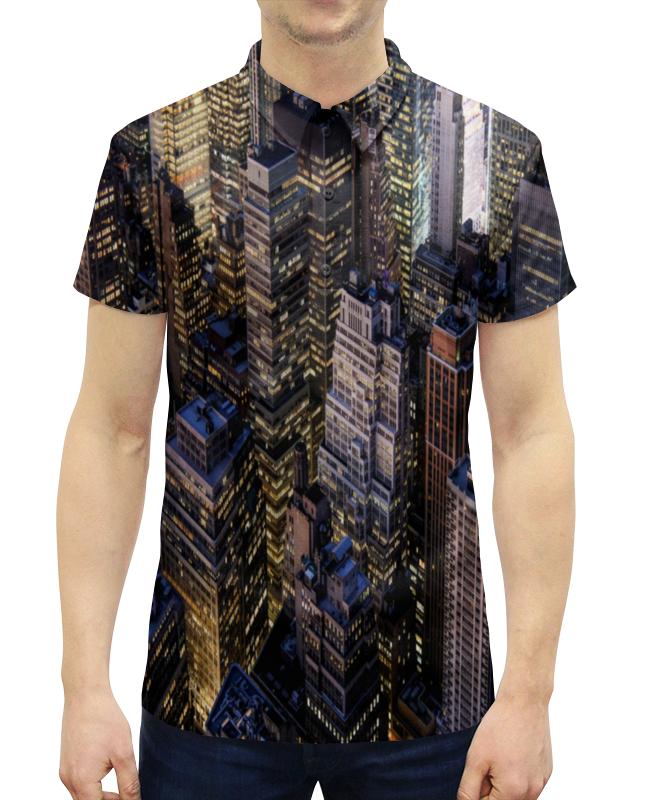 Фото - Рубашка Поло с полной запечаткой Printio Здания города рубашка поло с полной запечаткой printio улица города