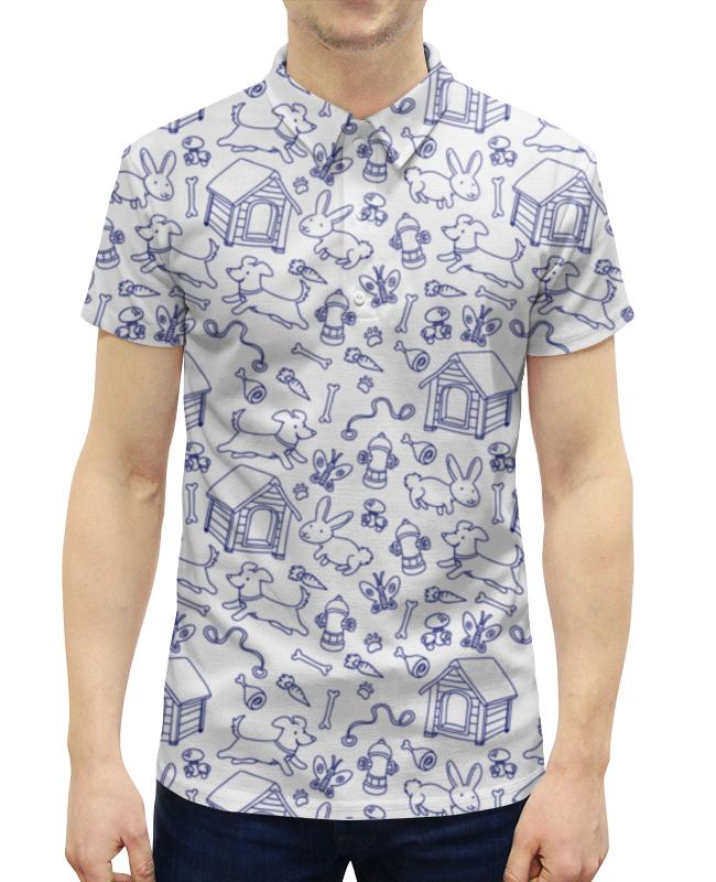 Рубашка Поло с полной запечаткой Printio Собаки и кролики футболка с полной запечаткой для девочек printio собаки и кролики