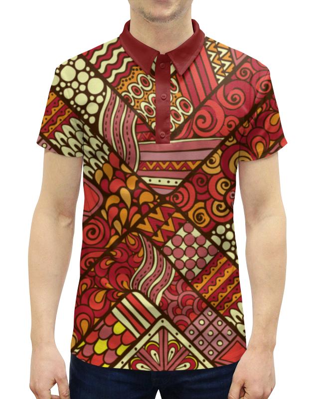 Рубашка Поло с полной запечаткой Printio Этнический узор жен ожерелья с подвесками мода этнический перо цвет радуги красный синий 70cm ожерелье назначение праздники для улицы