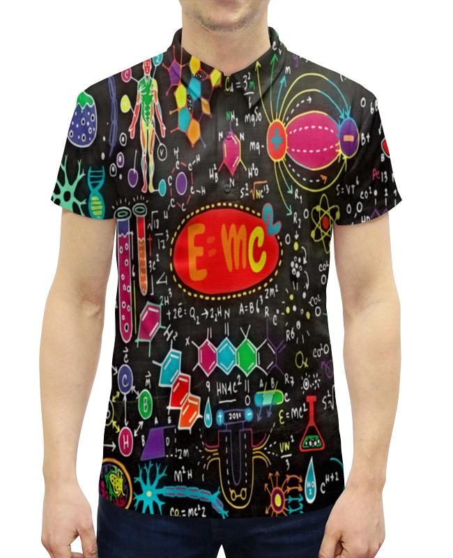 Рубашка Поло с полной запечаткой Printio Химия