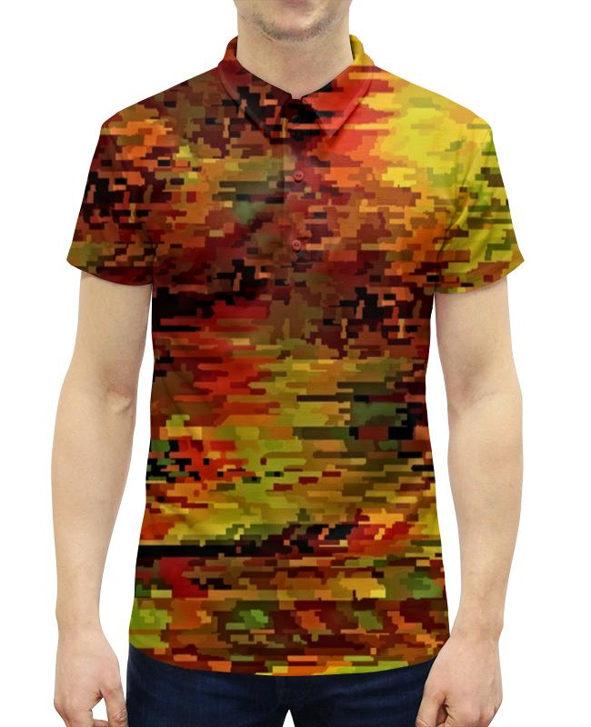Рубашка Поло с полной запечаткой Printio Краски осени свитшот унисекс с полной запечаткой printio краски осени