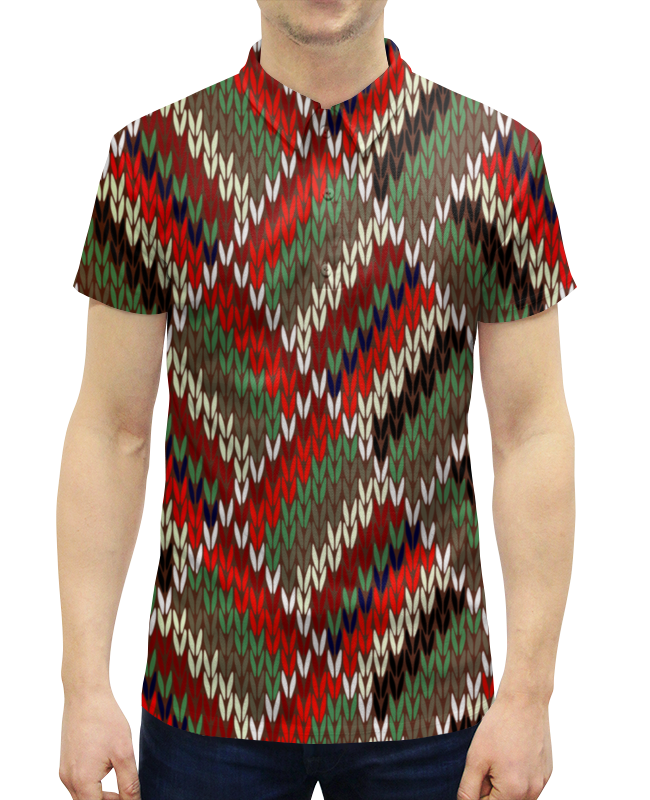 Рубашка Поло с полной запечаткой Printio Вязание цены
