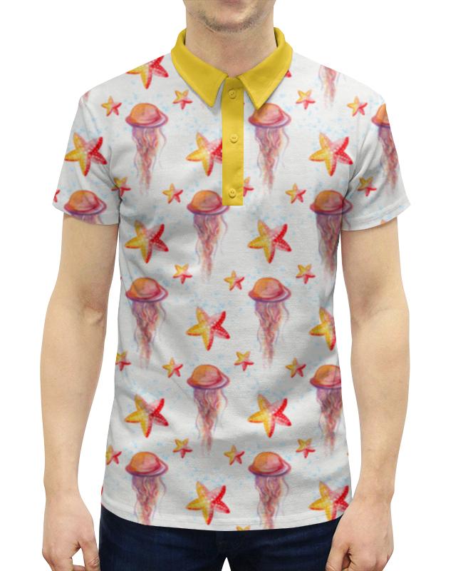 Рубашка Поло с полной запечаткой Printio Подводный мир