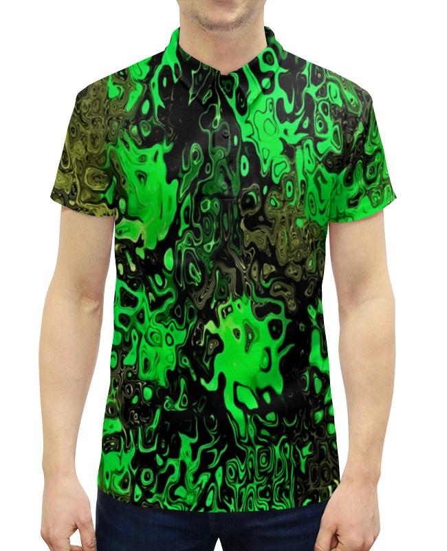 Рубашка Поло с полной запечаткой Printio Серо-зеленый рубашка elegance creation цвет зеленый