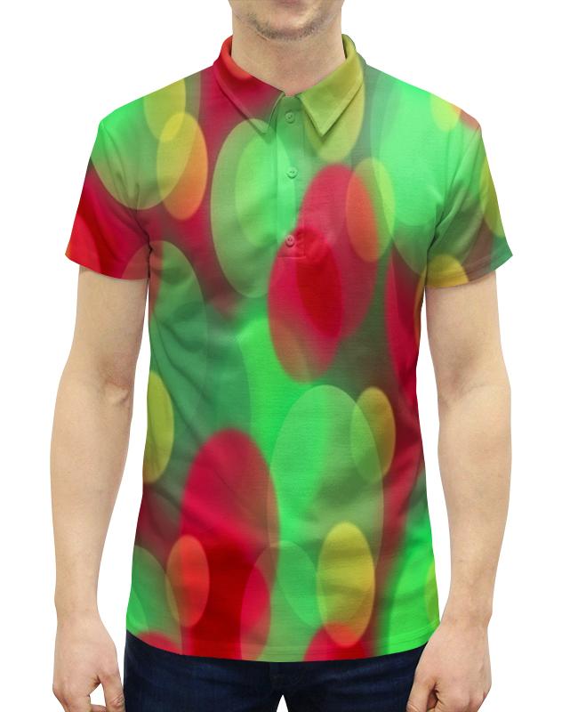 Рубашка Поло с полной запечаткой Printio Блики света цена
