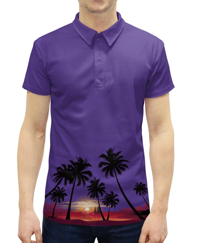 Рубашка Поло с полной запечаткой Printio Острова в океане