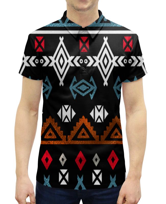 Рубашка Поло с полной запечаткой Printio Графический орнамент графический дизайн