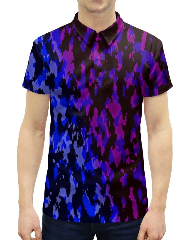 Рубашка Поло с полной запечаткой Printio Цветной камуфляж