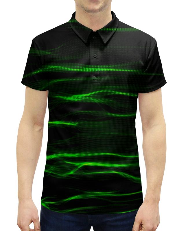 Рубашка Поло с полной запечаткой Printio Зеленые линии рубашка поло с полной запечаткой printio линии