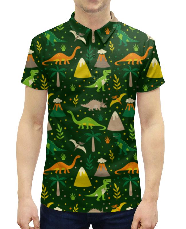 Рубашка Поло с полной запечаткой Printio Динозавры