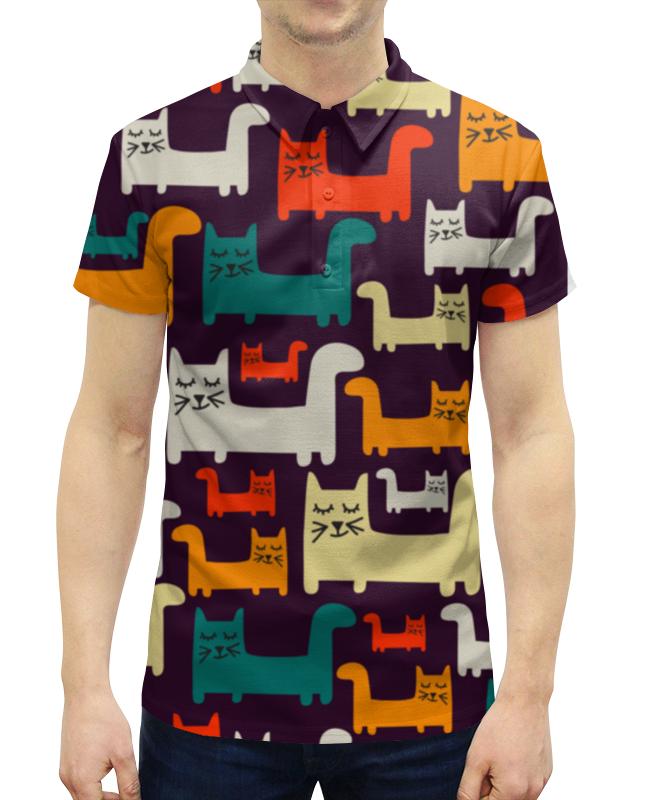 Рубашка Поло с полной запечаткой Printio Спящие котики футболка с полной запечаткой для мальчиков printio спящие котики