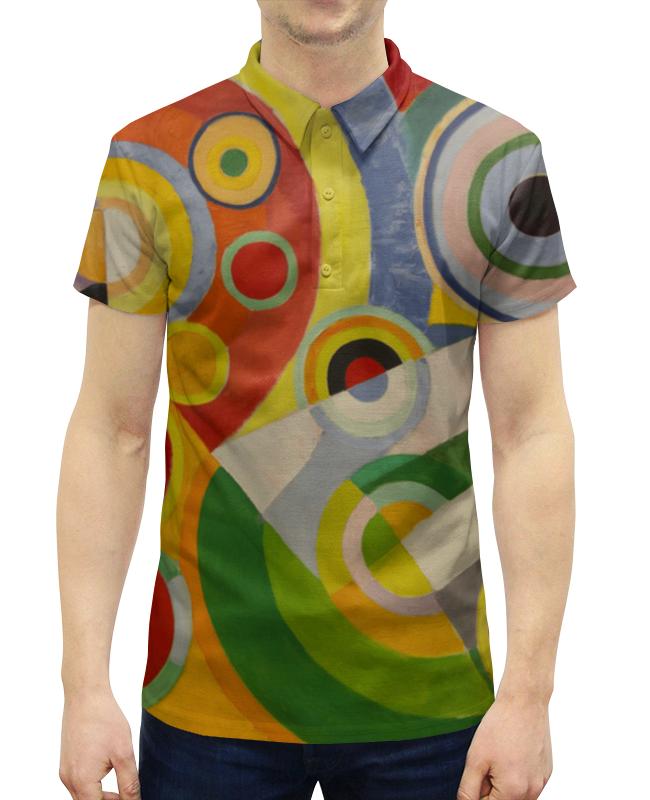 Рубашка Поло с полной запечаткой Printio Ритм, радость жизни (картина делоне)
