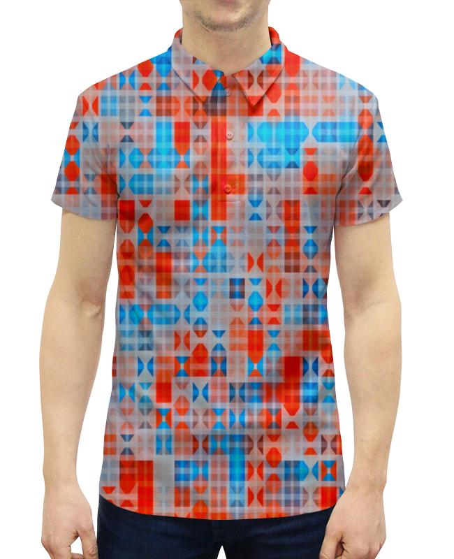 Рубашка Поло с полной запечаткой Printio Цветные фигуры