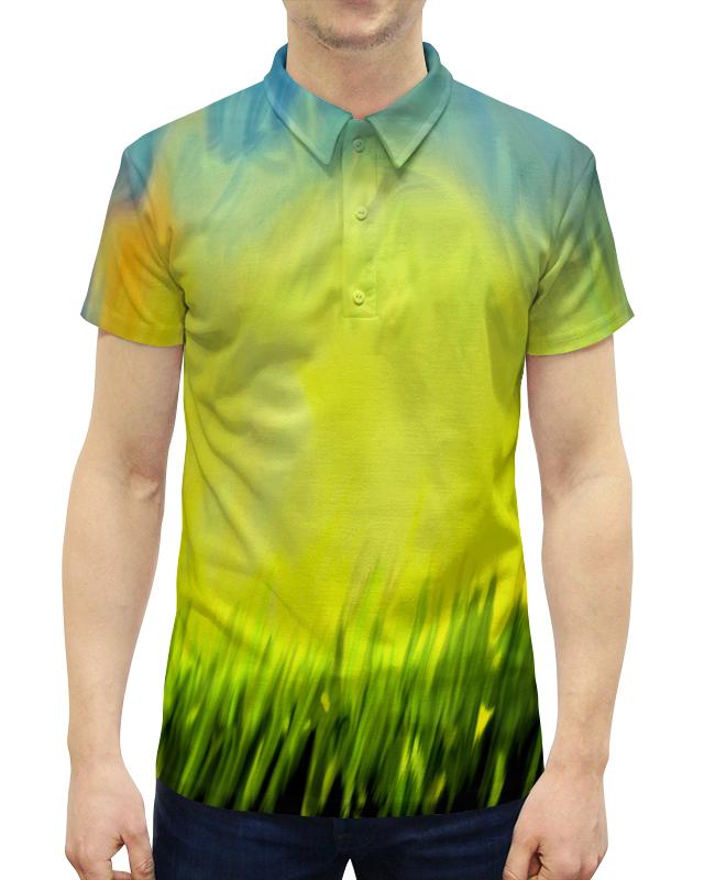Рубашка Поло с полной запечаткой Printio Краски лета цена