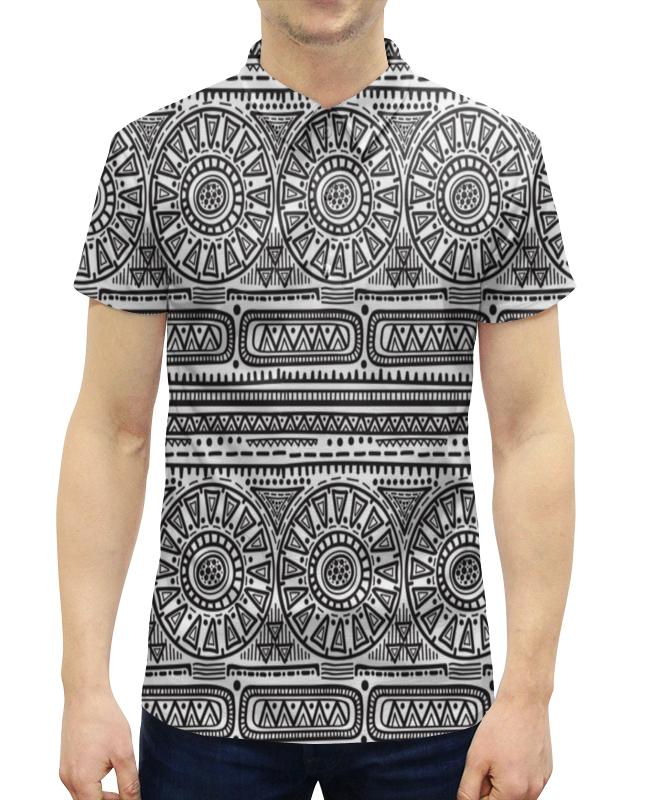 Рубашка Поло с полной запечаткой Printio Черно-белый орнамент рубашка поло printio биткоин черно белый