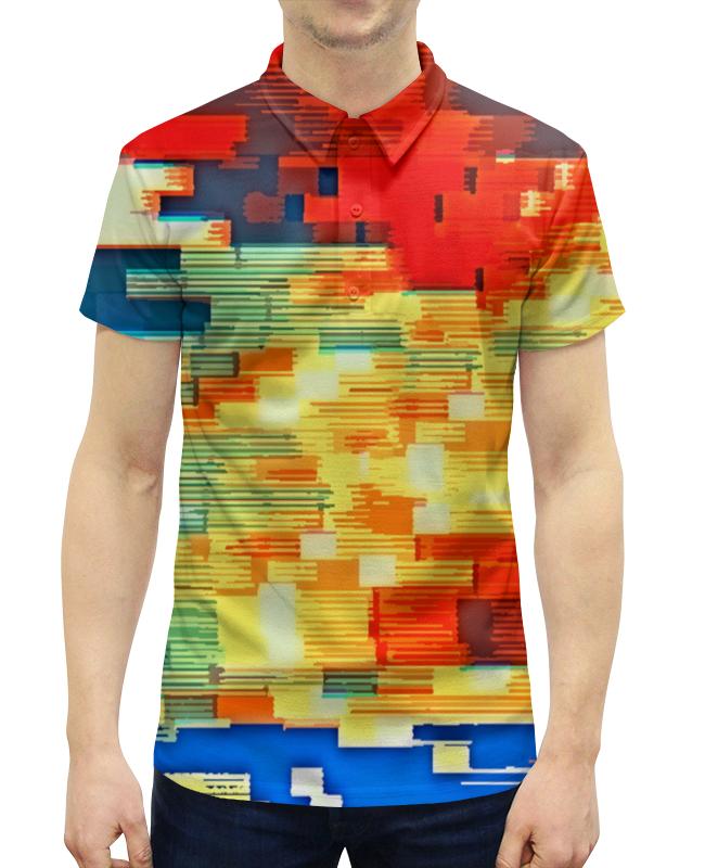 Рубашка Поло с полной запечаткой Printio Pixel color