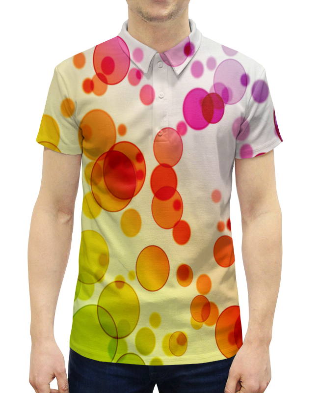 Фото - Printio Разноцветные круги рубашка поло с полной запечаткой printio цветные круги