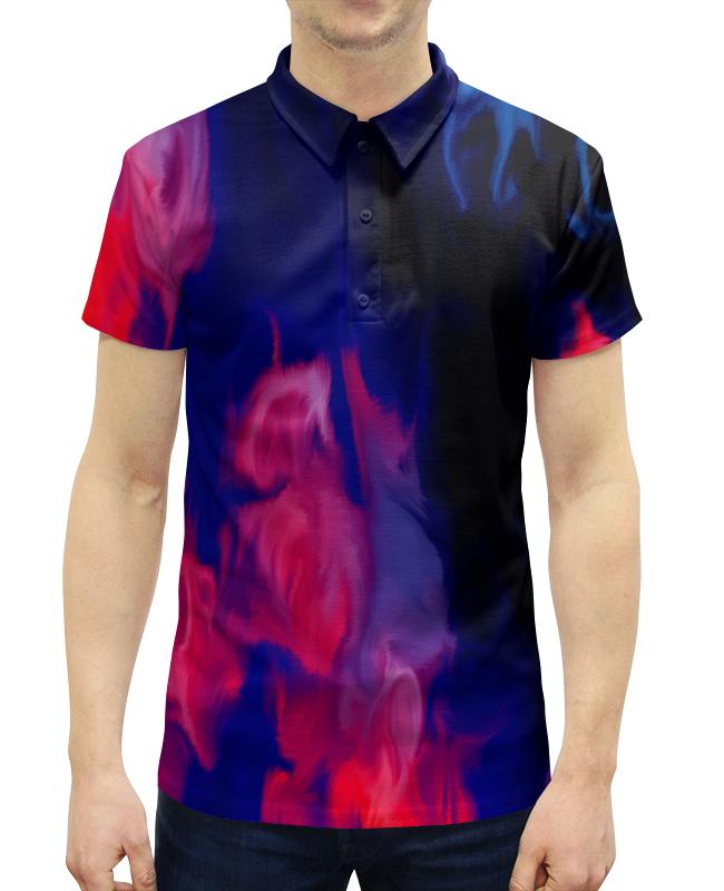 Рубашка Поло с полной запечаткой Printio Узор красками поло print bar узор