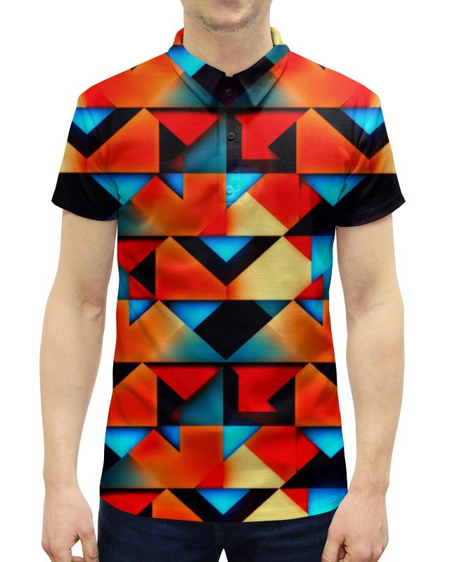 Рубашка Поло с полной запечаткой Printio Геометрические фигуры