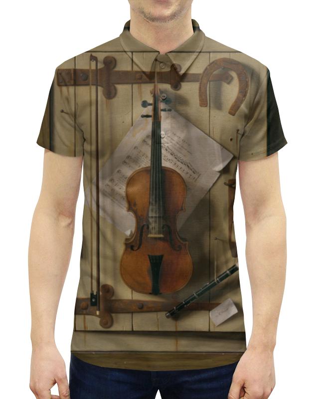 Рубашка Поло с полной запечаткой Printio Натюрморт со скрипкой (уильям харнетт) уильям пол янг ева
