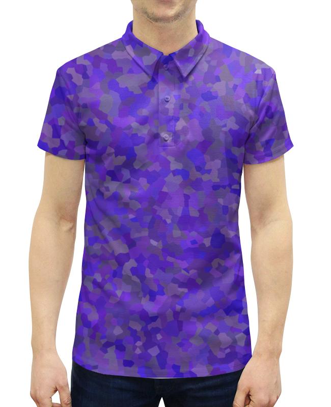 Printio Glowing purple рубашка поло с полной запечаткой printio последний полет