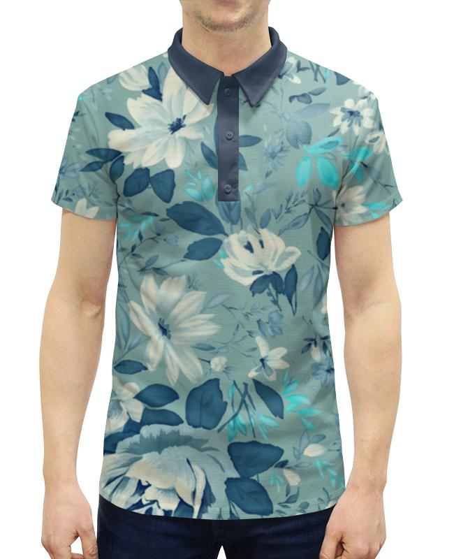 Рубашка Поло с полной запечаткой Printio Цветы. акварель