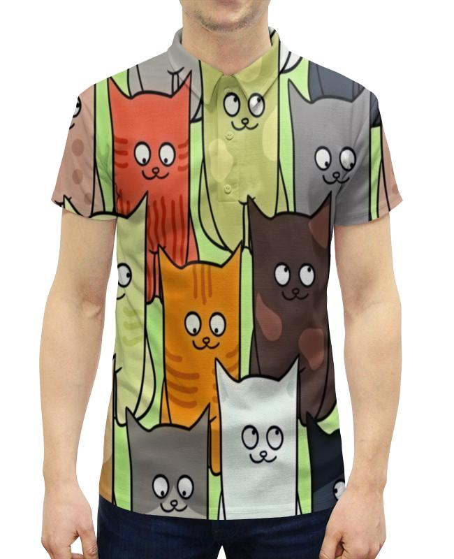 Рубашка Поло с полной запечаткой Printio Котята