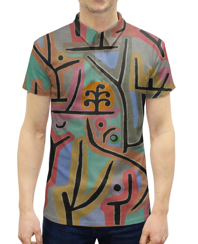 цена на Рубашка Поло с полной запечаткой Printio Парк возле лю (пауль клее)